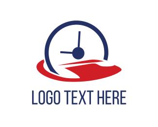 Timer - Abstract Clock logo design
