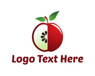 Juice Bar - Red Apple logo design