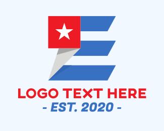 Voting - American Letter E logo design