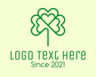 Geen - Green Cloverleaf  logo design