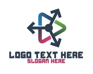 Colorful Arrow Player App Logo
