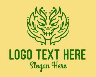 Creature - Green Nature Creature logo design