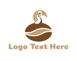 Coffee Bean - Coffee Bird logo design