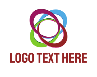 Networking - Colorful Ellipses  logo design