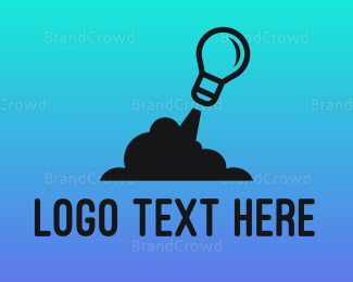 Innovation - Rocket Light Bulb logo design