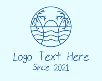 Tropical - Tropical Beach Resort logo design