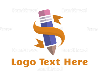 School - Purple Pencil logo design