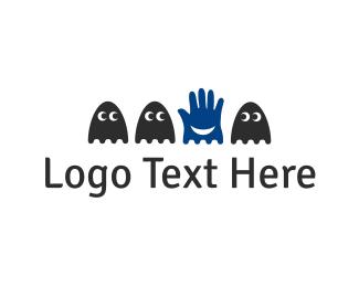 Joke - Hand & Ghosts logo design