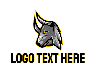 Ox - Bull Head Gaming logo design