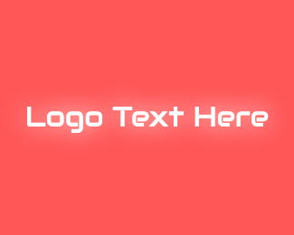 Glow - Neon Glow Text logo design