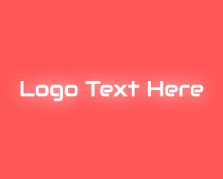 Text - Neon Glow Text logo design