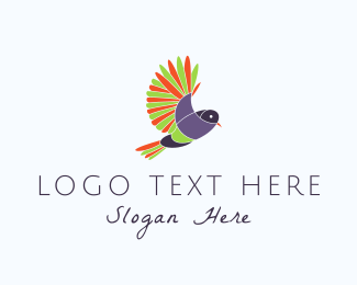Vitality - Colorful Bird logo design