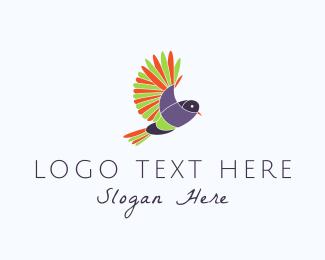 Sparrow - Colorful Parrot logo design