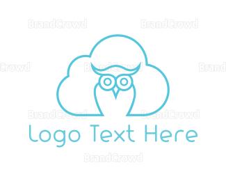 Nappy - Cloud Owl logo design