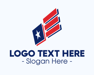 Voting - Modern American Flag logo design