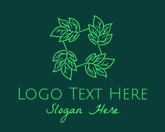 Seeding - Green Leaves Herb logo design