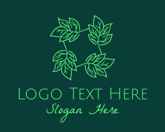 Herb - Green Leaves Herb logo design