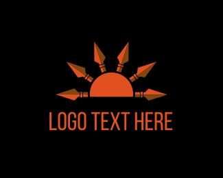 Dawn - Sun Spears logo design