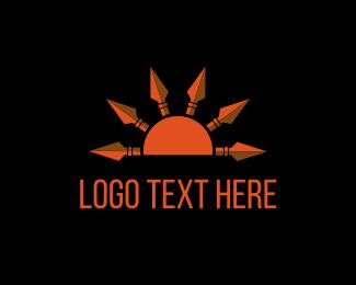 Spear - Sun Spears logo design
