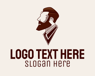 Grooming - Man Salon Barbershop logo design