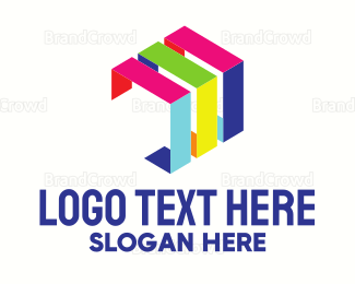 Edge - Cube Abstract Edges logo design