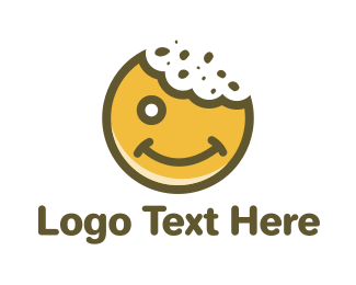 Emoticon - Happy Cookie logo design