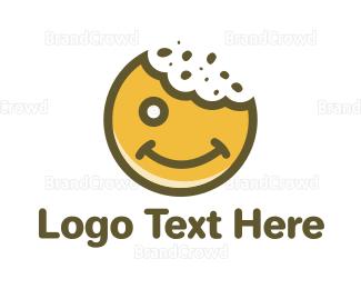 Bake Shop - Happy Cookie logo design