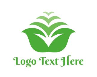 Fragrance - Orchid Flower Leaf  logo design
