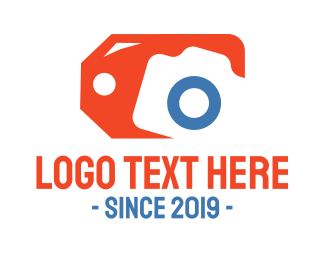 Online Shop - Orange Tag Camera logo design