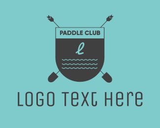 Row - Beach Club Emblem logo design
