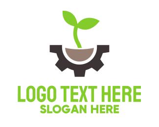 Machinery - Green Engineering logo design