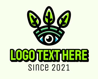 Coaching - Eco Eye Leaf logo design