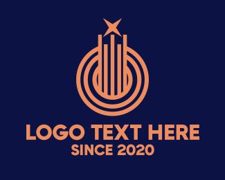 Shooting Star - Abstract Star Line logo design
