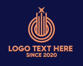 Lines - Business Company Building Star logo design