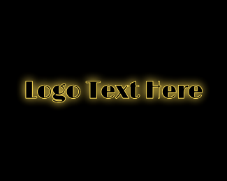 Text - Glowing Marquee Text logo design