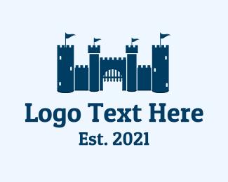 Kingdom - Royal Castle Moat logo design