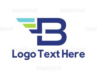 Freight - Fast Letter B logo design