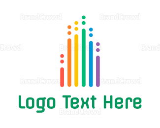 Radio - Rainbow Chart  logo design