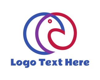 Pigeon - Round Pigeon logo design