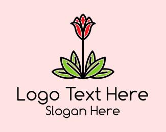 Minimalist - Floral Tulip Plant logo design