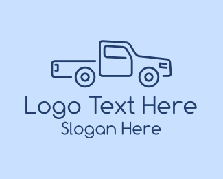 Pickup - Delivery Truck Business  logo design
