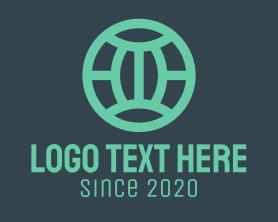 Travel - Teal Modern Globe logo design
