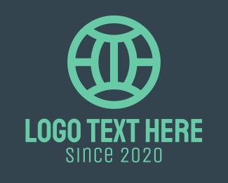 Free Teal Modern Globe Logo