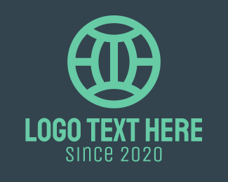 Earth - White Globe logo design