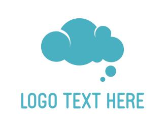 Cloud - Bubble Cloud  logo design