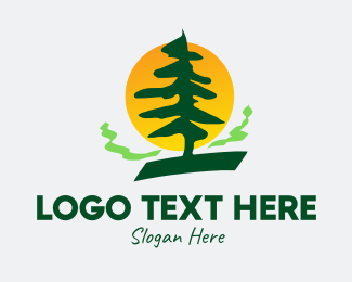 Pine Forest - Pine Tree Forest logo design