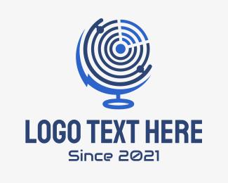 Technology - Electric Sonar Globe logo design