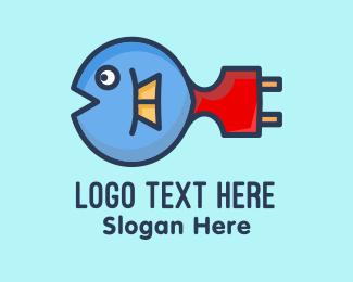 Plug - Puffer Fish Plug logo design