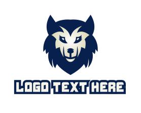 Puppy - Blue Wolf logo design