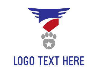 Military Paw Logo